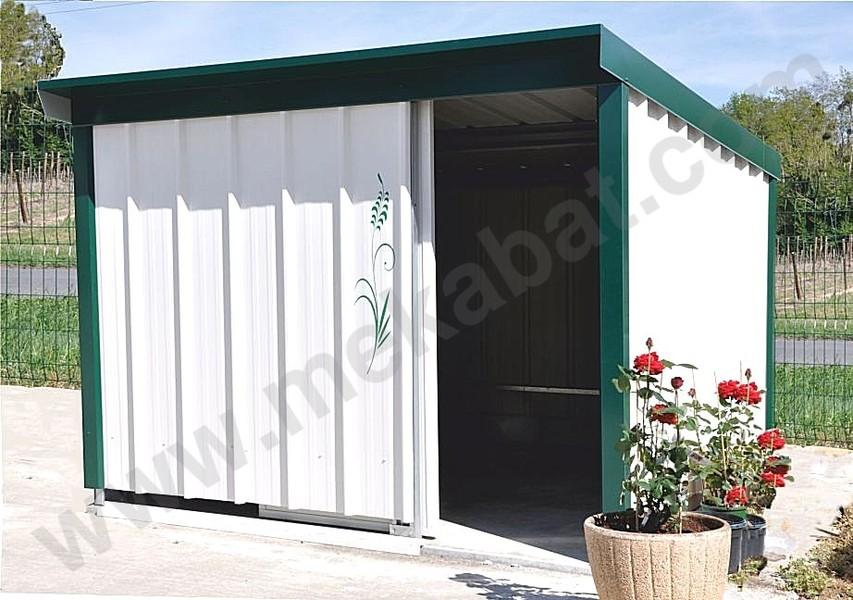 Abri jardin metallique abri en kit m tallique 6 x 10 x 3 for Portillon metallique jardin