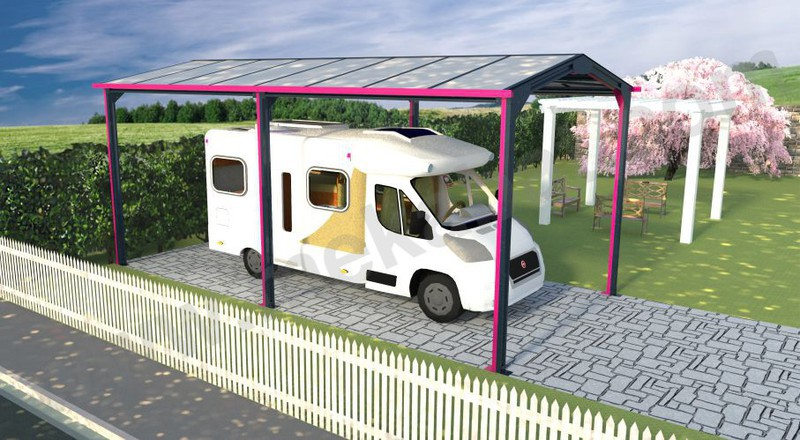 carport camping car en kit. Black Bedroom Furniture Sets. Home Design Ideas