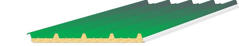 Panneaux sandwichs isol s le panneau sandwich isolant bardage ou couverture pos en toiture - Panneau sandwich toiture ...