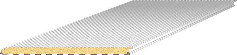 panneaux sandwichs isol s le panneau sandwich isolant bardage ou couverture pos en toiture. Black Bedroom Furniture Sets. Home Design Ideas