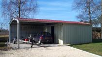garage métallique double pente