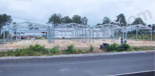 montage hangar metallique