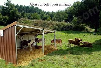 abri agricole pour animaux